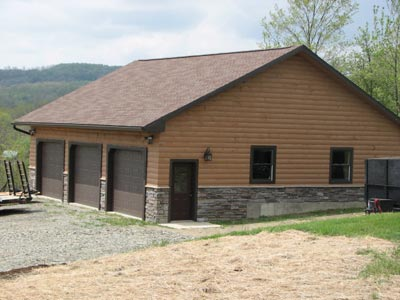 All custom log cabin construction sales custom built for Garage packages maine